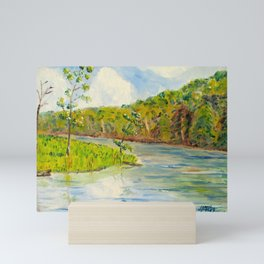 Pleasant Day at Ogle Lake Mini Art Print