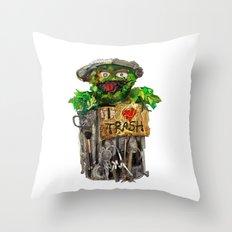 Trashy Throw Pillow