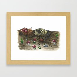 Little Worlds: The Harvest Framed Art Print