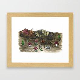 Little Worlds: The Harvest Framed Art Print