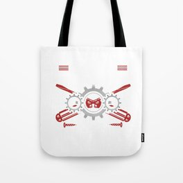 Mechanic Brother Machines Repair Vehicles Tools Mechanical Engineering Auto Car Repairing Gift Tote Bag
