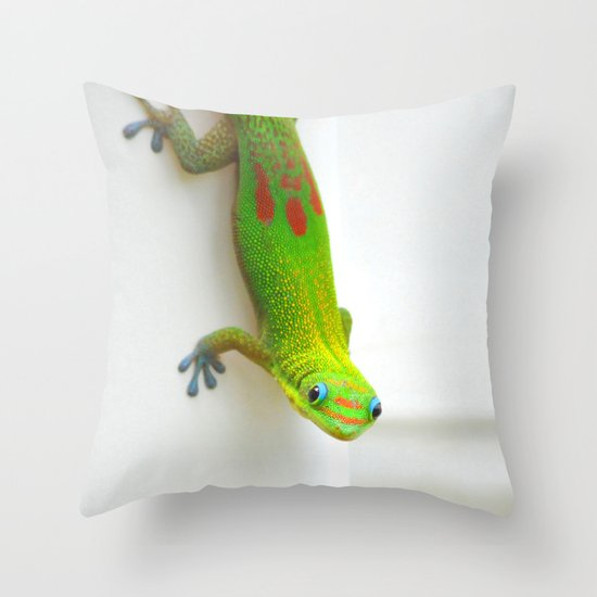 Gecko  Throw Pillow