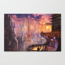 Neo Paris Canvas Print