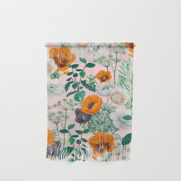 Wildflowers #pattern #illustration Wall Hanging