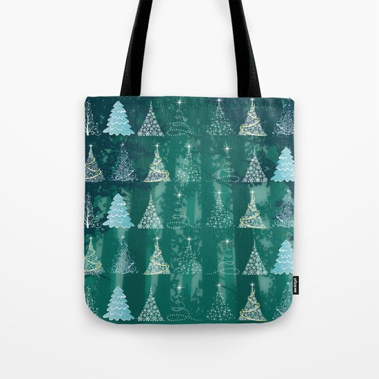 Christmas tree in the forest Tote Bag