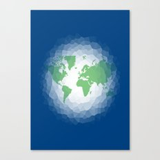 The World in Ocean  Canvas Print