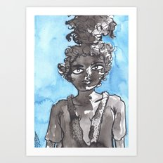 Ocean princess of East Africa Art Print