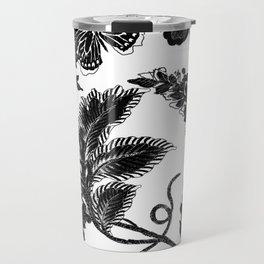 Paisley Jacobean black and White Travel Mug