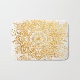 Queen Starring of Mandala-Gold Sunflower II Bath Mat