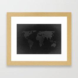 Retro world map Framed Art Print