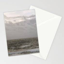 Surfers at Woolacombe Beach Stationery Cards