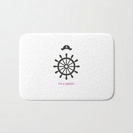 I'm a captain.(on white) Bath Mat