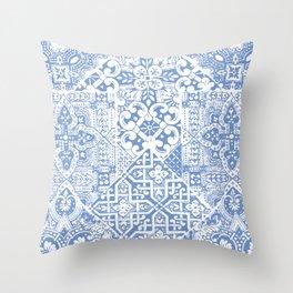 celtic cloud blue Throw Pillow