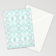 Turquoise Geo Stationery Cards