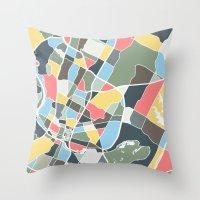austin Throw Pillows featuring Austin Texas. by Studio Tesouro