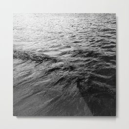 Ocean Wave Black And White Metal Print