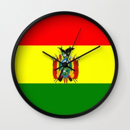 Flag of Bolivia Wall Clock