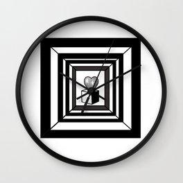 heart maze . Wall Clock