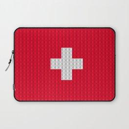 Swiss flag by Qixel Laptop Sleeve