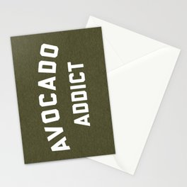 Avocado Addict Funny Quote Stationery Cards