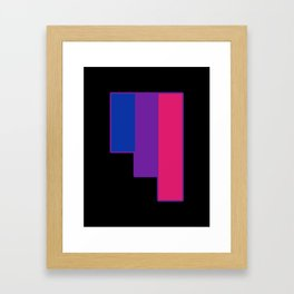 Bisexual and Biromantic Framed Art Print