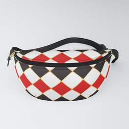 Retro checkered with golden threads Fanny Pack