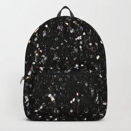Black and white shiny glitter sparkles Backpack