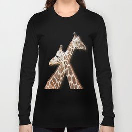Giraffes Passing in the Night Long Sleeve T-shirt