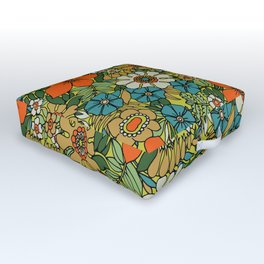 70s Plate Outdoor Floor Cushion
