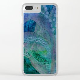 Pastel Octopus Clear iPhone Case