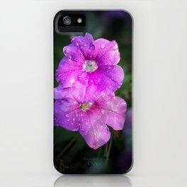 Wet Purple Impatiens iPhone Case