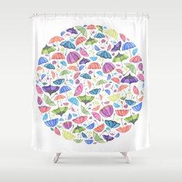 Umbrellas. Shower Curtain