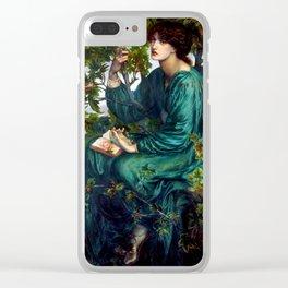 """Dante Gabriel Rossetti """"The Day Dream"""" Clear iPhone Case"""