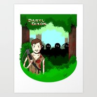 daryl dixon Art Prints featuring Daryl Dixon by Dan Solo Galleries