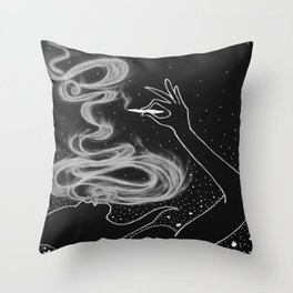 Midnight Toker (#3), Smoking Lady Series Throw Pillow