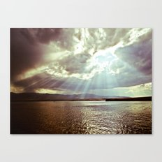 Sun Beams (Warm Tone) Canvas Print