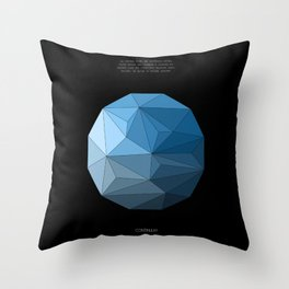 Continuum black Throw Pillow
