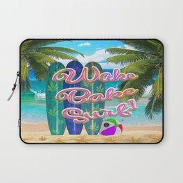 Wake Bake Surf! Laptop Sleeve