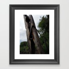Peg Framed Art Print