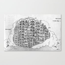 The Incredible World Of False History Cross Sections Pt.1 The Cloud Canvas Print