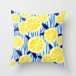 Limonada fresca Throw Pillow