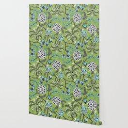 Floraison Indienne (Green) Wallpaper
