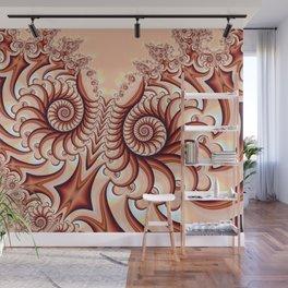 Owl Fractal Peach Wall Mural