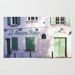 La Maison Rose Montmartre Paris Rug
