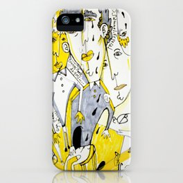 yellow people iPhone Case