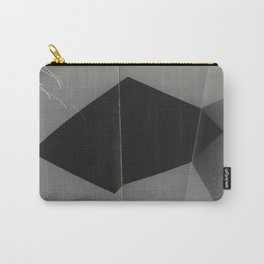 Black square folded #02 Carry-All Pouch