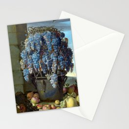 Luca Forte Still Life with Grapes and other Fruit Stationery Cards