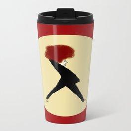 Lady Red Metal Travel Mug