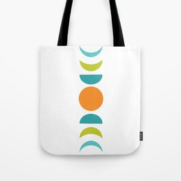 Abstract Moon Phases Tote Bag