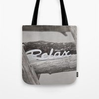 relax Tote Bags featuring Relax by LebensART Photography